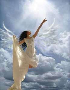 Beautiful-female-angel-in-blue-sky