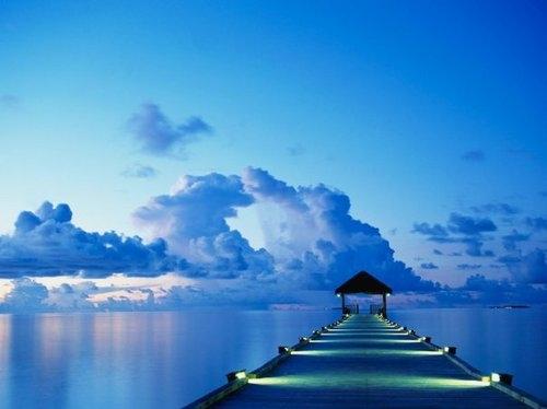 beautiful-blue-breathtaking-clouds-dock-ocean-Favim.com-41597